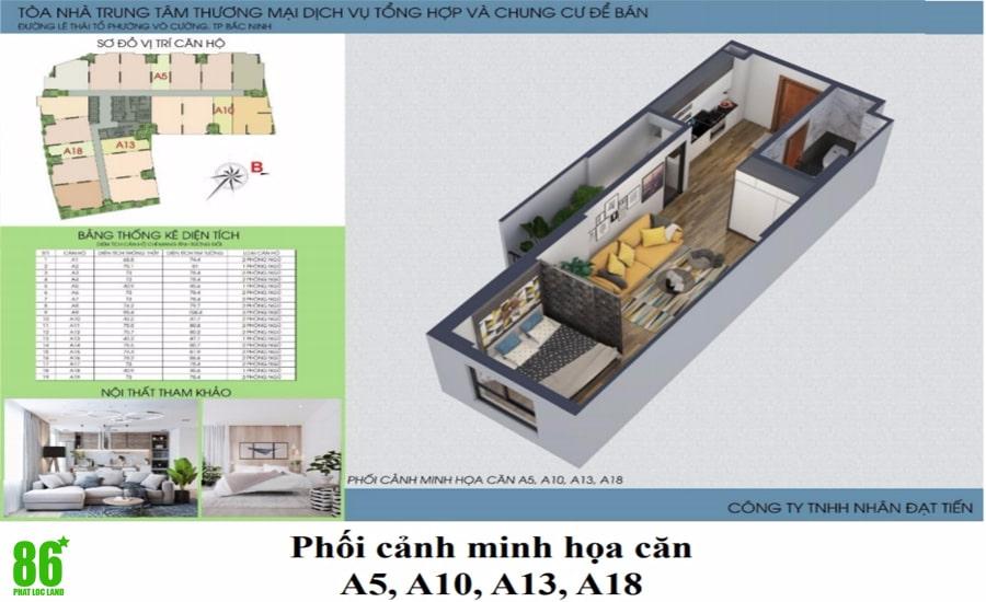 Thiết kế căn hộ Green Pearl Bắc Ninh