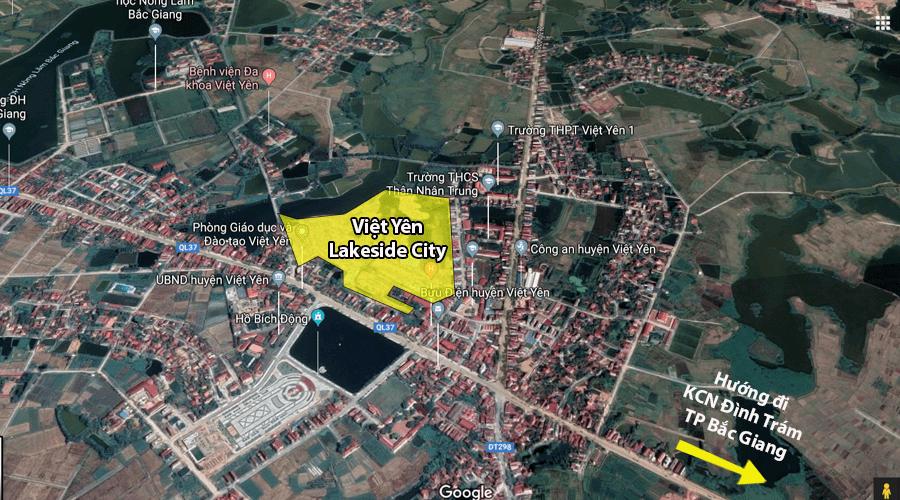 Vị trí Việt Yên Lakeside City