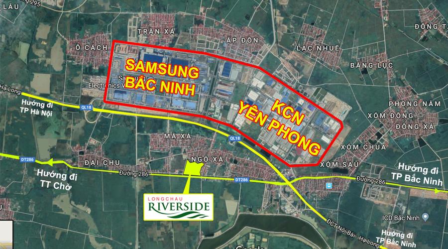 Vị trí dự án Long Châu Riverside