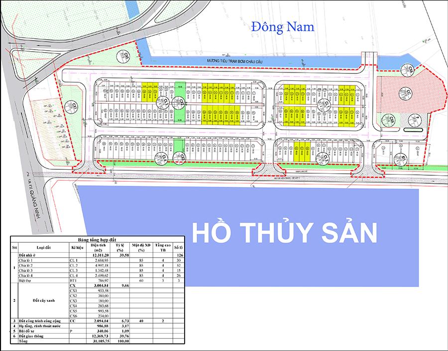 Mặt bằng dự án Châu Phong