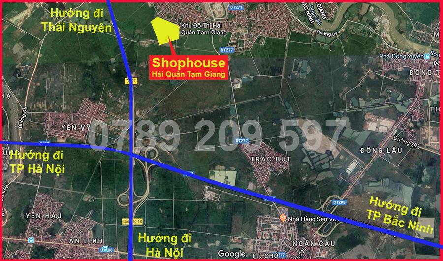 Vị trí Shophouse Hải Quân Tam Giang 2