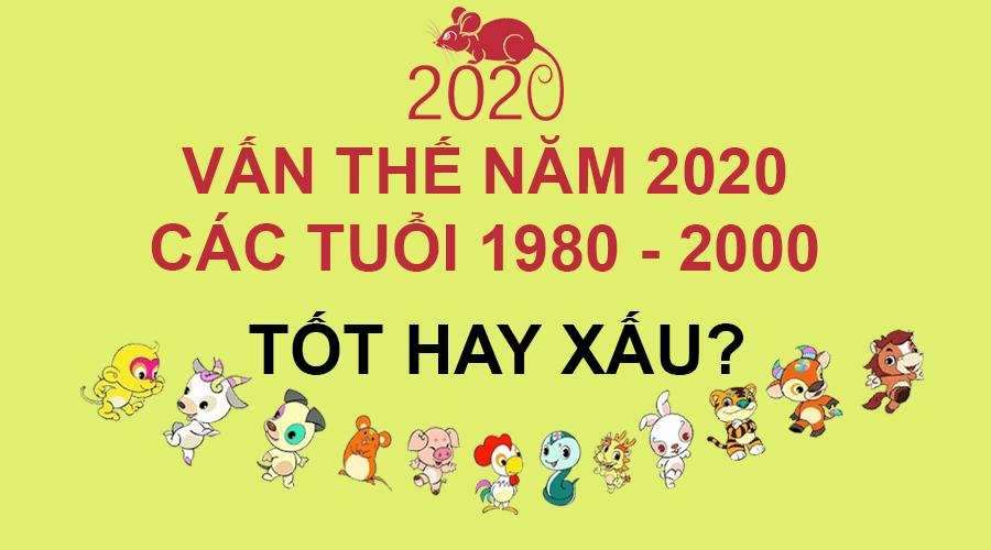 Vận thế năm 2020 các tuổi 1980 đến 2000
